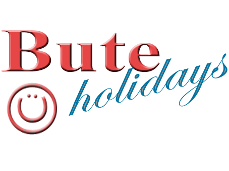 Bute Holidays Logo with Smiley Face